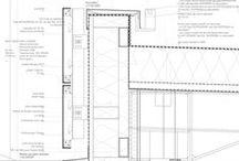 construction. / construction details. facade details. detailed sections.
