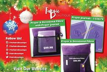 2015 Holiday Gift Guide / We offer a variety of uniquely hand-crafted Prayer & Devotional Pillows and Prayer Journals