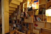 aménagement salon en caisses à vins en bois / Fabriquer ses meubles en caisse à vins en bois chez soi avec des caisses en bois de récup ou neuves.
