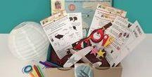 Box Ulule : On s'envole! / La première box de l'atelier imaginaire, offerte en contrepartie aux contributeurs de la campagne de financement participatif sur Ulule!  La box est sur le thème de Roland Garros et l'aviation, et est disponible à présent en boutique !