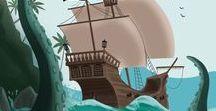 """Box mars 18 : Une vie de Pirate ! / Toutes nos inspirations pour la box """"Une vie de Pirate"""" de l'atelier imaginaire, ainsi que les photos du contenu et les tutoriels et articles à retrouver sur le blog ! Les box de l'atelier imaginaire sont des box de loisirs créatifs pour les enfants de 5 à 10 ans."""