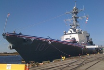 USS Gravely Commissioning, Wilmington, NC / DDG 107, Battleship USS Gravely, Commissioned in Wilmington, North Carolina