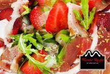 Ensaladas Monte Regio / El placer de tomar una comida sana, fresca y natural acompañada de nuestros productos ibéricos. ¡Sensacional!  www.monteregio.com