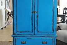 DIY - Furniture / Up cycled and repurposed furniture. Find beautiful brightly colored chairs and funky ideas on how to make old furniture into something new and wonderful!