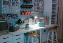 Craft Room Design / Craft room design ideas - incorporating element of easy access storage and use of space.