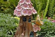 Solar Fairy Houses / Solar and Lighted  Fairy Houses and Fairy Doors
