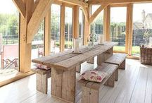 Natural Interiors / naural materials, wood, clay, glass, stone