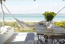 Garden retreats, patios and verandas. / The spaces at home, when you step outdoors, created for sitting ,relaxing, daydreaming, reading, being with friends and family, and well, just to unwind. Please pin to your delight. / by Elnes Smit