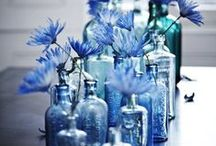 Flower Bottles / Flower poofs and vases