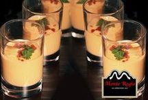 Platos Fríos Monte Regio / Disfruta de cremas, sopas o purés frío en cualquier momento del año ¿te atreves? No te olvides de añadir siempre el ingrediente clave: jamón ibérico Monte Regio.