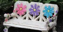 Fairy Garden Furniture / Miniature furniture and accessories for Fairy Gardens.