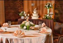 Event Space / The Throckmorton is 2,300 sq feet and can hold up to 160 people. This ballroom includes full day access to the ballroom, as many tables and chairs as you would like, use of our pre-function area for a bar or even a buffet, and linens (brown, ivory, or white.) We also have multiple centerpieces and use of our A/V equipment (projector for a slide show, screens, microphones..etc) available for rent.