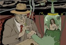 William Burroughs Illustrations / Illustrations by Damien MacDonald