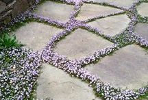 DIY Garden Path Ideas / Garden paths come in many styles and it is up to you to determine which style fits your garden best and what will be easy to maintain.