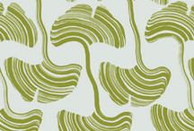 #ArboriteINK - Gingko / Inspired by the Ginkgo leaves Sagona remembers from her mother's skirt, this design displays a painterly play on the plants.