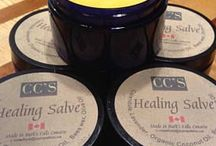 Healing Salve / Healing salve is made from calendula and lavender I grow on my 20 acre land. I then infuse the flowers in oils up to 8 weeks in the sun to get the healing properties. This Salve has been used by hundreds of people now for chronic pain, psoriasis, eczema, sunburns, cuts, bruises, diaper rashes, cold sores, acne hemmoriods and MORE!