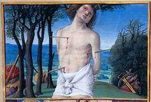 Saint Sébastien / Sébastien est un saint martyr romain, qui aurait été tué lors des persécutions de Dioclétien au début du ive siècle. Il est souvent représenté dans les arts, attaché à un poteau, le corps transpercé de flèches. Il est fêté le 20 janvier en Occident et le 18 décembre en Orient.