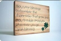 """Let's Make It Green! St Patrick's Day / """"May your blessings outnumber the shamrocks that grow, and may trouble avoid you Wherever you go. ~ Irish Blessing"""