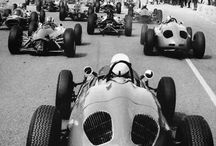 Old racing cars