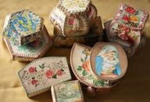 vintage card boxes, bowls, etc / by Sandra King