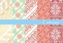 pretty paper / wrapping paper with Slovak folk pattern