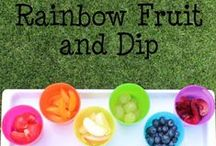 Fun Rainbow Food for Kids / Encouraging little ones to eat a variety of fruit and veggies with colourful rainbow food! / by Play & Learn Everyday