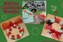 Christmas Wreaths Kids Can Make / Fun wreath crafts made by children for Christmas / by Play & Learn Every Day