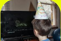 New Years fun for Kids / Lots of fun ideas and activities to keep the children busy on New Years Eve celebrating at home with family.