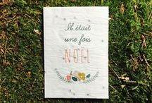 Cartes de Noel - Cartes de Voeux / Cartes de Noel - Cartes de Voeux - Papier à Graines - Sapin