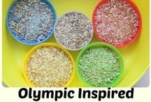 Olympics Inspired Fun for Kids / Fun ideas for games, activities and crafts for the kids to do inspired by the Olympic Games.
