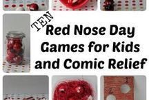 Red Nose Day / Lots of fundraising ideas for crafts, cake sales and activities to raise money for Comic Relief.