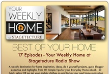 """Radio - Your Weekly Home at Stagetecture / """"Your Weekly Home at Stagetecture"""" on Blog Talk Radio and iTunes!  Every Wednesday - 12pm EST http://www.stagetecture.com/radio or download on iTunes - http://stagetecture.com/itunes  A weekly destination for home inspiration, do it yourself projects, guest blogger expertise and highlights from 111 Simple Tips for your Everyday Home ebook."""