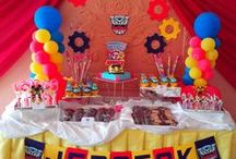 Cake and Cupcake Table Ideas / Many times the cake table is the focal point of your child's birthday party.    The cake table usually features the birthday cake and/or cupcakes, party favor bags and other theme related decorations.