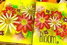 Art Journal Ideas1 / Here the diarist will find inspiration and motivation for succesfully creating their personal life book. The artistic journal records life experiences (& thoughts) in a pictorial, colourful, and embellished manner according to the author's style. / by Monica Bourne