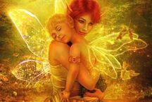 Fantasy - Fairies / Fairies ranging from drawn through to handmade. / by Monica Bourne