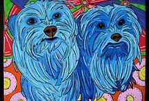 Southern Pop Dog Paintings / New series I am working on. www.southernpoppaintings.com susan r. sorrell