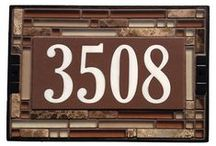 For the Home /  Tile Address Plaques and Multi tile House number signs