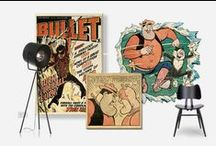 Vintage Comics / Continuing our love of all things vintage, here's how to transform your home, geek-style, with retro comic book-inspired prints and patterns. Browse this collection of our favourite designs from our archives and inspiration from around the web.