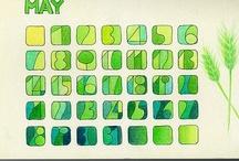 :::colored pencil:::Calendar::: / creative calendar