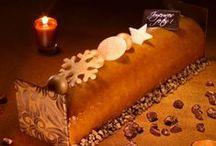 Pâtisserie : Collection de Noël 2014 / Bûches pâtissières, bavaroises, glacées, entremets de fêtes.... Poire-caramel, framboise-chocolat, noix de coco-exotique, vanille, café, noisette... Cette année à La Romainville, il y en a pour tous les goûts.  Cette collection émerveillera vos pupilles comme vos papilles. http://www.laromainville.fr/34-noel