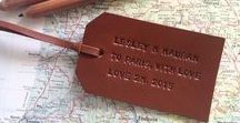BON.VOYAGE / Travel Essential - Personalise your luggage when adventuring with The Bon Voyage Leather Luggage Tags
