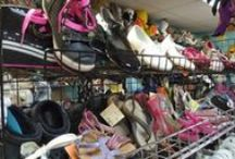 Shoes for many sizes / Kidz shoes size 0 to teen ~12. Slippers, flip flops, sandals. sneakers, boots, Heelys, and cleats. Many shoes here are new, never worn with tags still on them.  #childrensshoes #kidsshoes #childrensneakers #heelys #childrenfootwear