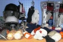 Sports equipment for all ages / Kidz must play a sport. It will keep them out of trouble.