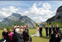 Weddings in Banff / The Town of Banff is a pretty picturesque spot for a wedding. Find out all we have to offer at http://www.banff.ca/weddings