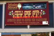The Woodruff Chili Crawl / This annual event is a cook-off on whose got the best Chili! The event also includes a tractor & bike show, local vendors and more!