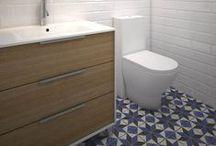Raval | Reforma de baño / Grupo Inventia realizará la reforma de baño de una vivienda en el barrio de Raval de Barcelona. Estos son los diseños 3D elaborados para el proyecto.