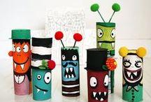 barnekunst / idéer for prosjekter med barn