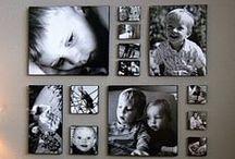 Cadres photos/Galeries murales / Des arrangements de photos et de cadres incroyables, qui suffisent à habiller une pièce et la rendre unique.