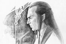 Middle Earth Art / Concerning Middle Earth . Mostly Lord Elrond and some other persons and creatures.