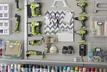 GARAGE/SHED/WORKSHOP / Ideas to organize your tools and other items that need to get stored.